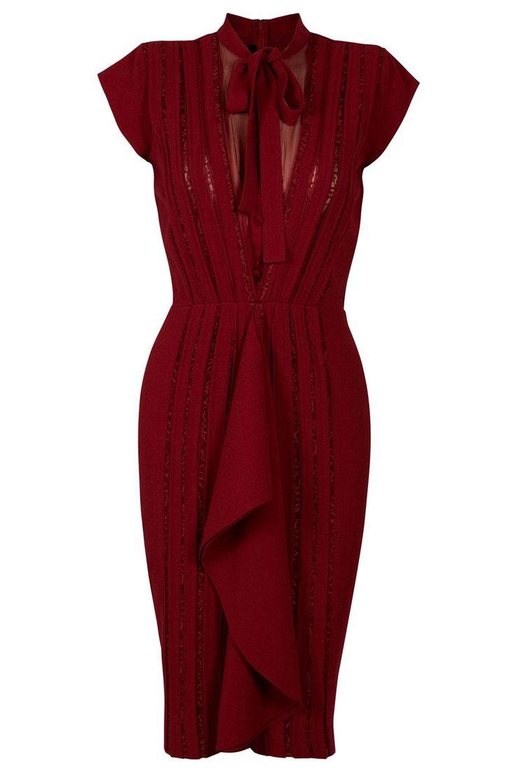 ELIE SAAB Lace Ribbon Dress
