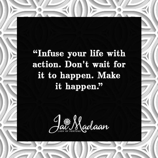 Infuse your life with action. Don't wait for it to happen. Make it happen. #QOTD #inspiration https://t.co/mgldhGYQQa