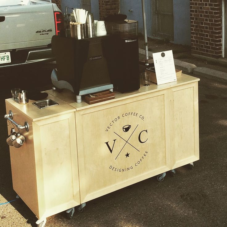 Vector Coffee Company mobile espresso cart in Saskatoon