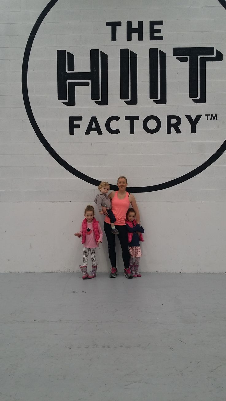 Metafit session today at the HIIT Factory with the kids.