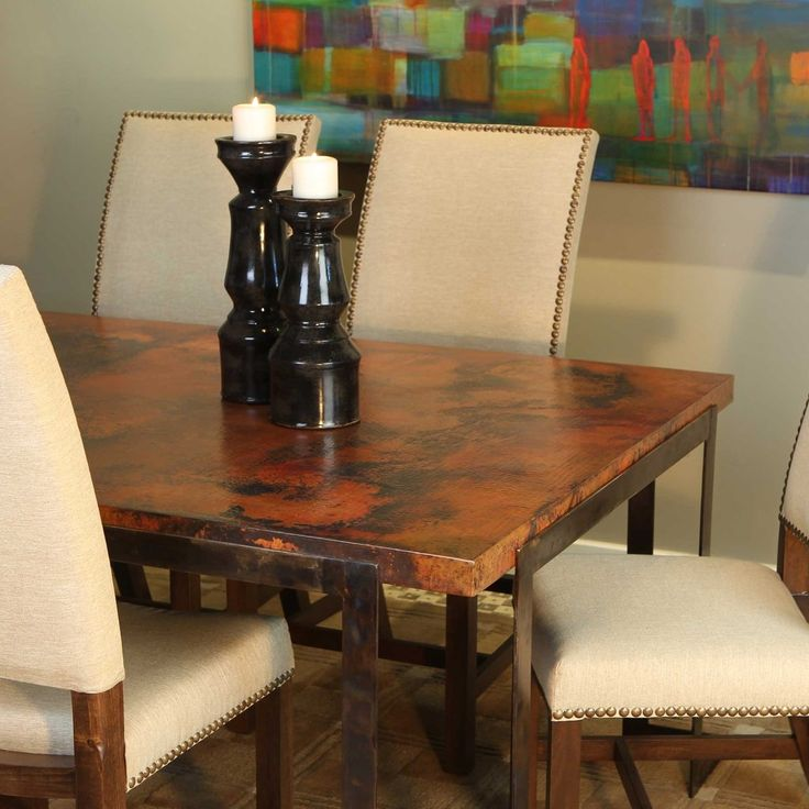 Copper Dining Room Table: 34 Best Custom Copper Table-Tops Images On Pinterest