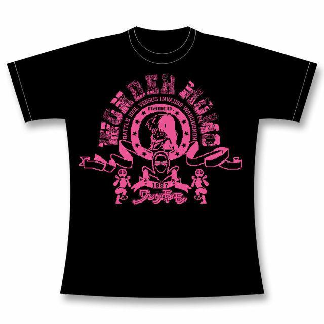 """T-shirt commemorating """"Wonder Momo 30th Anniversary Commemorative Item""""  「ワンダーモモ30周年記念商品」を記念したTシャツがGAMES GLORIOUSから登場! このTシャツを着て30周年をお祝いしましょう!  ワンダーモモ 【WONDER MOMO School Club Tee】 (BLACK)   【CONCEPT】:部活TシャツをイメージしたシンプルなスポーティーTシャツ。  【サイズ展開】: S / M / L / XL / XXL"""