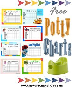 Free printable potty training charts                                                                                                                                                                                 More