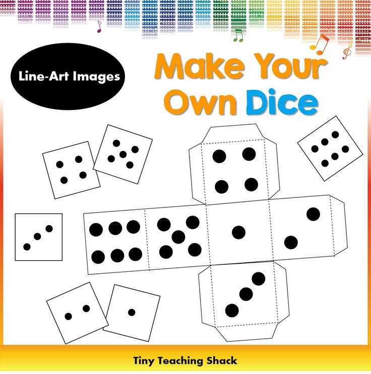 dice template dice clipart