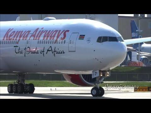 2nd Kenya Airways 777-300ER Revs Up For Test Flight @ KPAE Paine Field