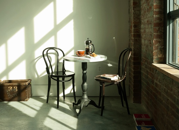 : French Press, Bistro Tables, Cafe Chairs, Breakfast Nooks, Williamsburg Brooklyn, Wyth Hotels, French Cafe, Bentwood Chairs, Cafe Tables