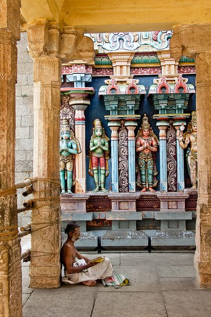 The Scholar ~   Srirangam Temple, Tamil Nadu, India // by  Ecar