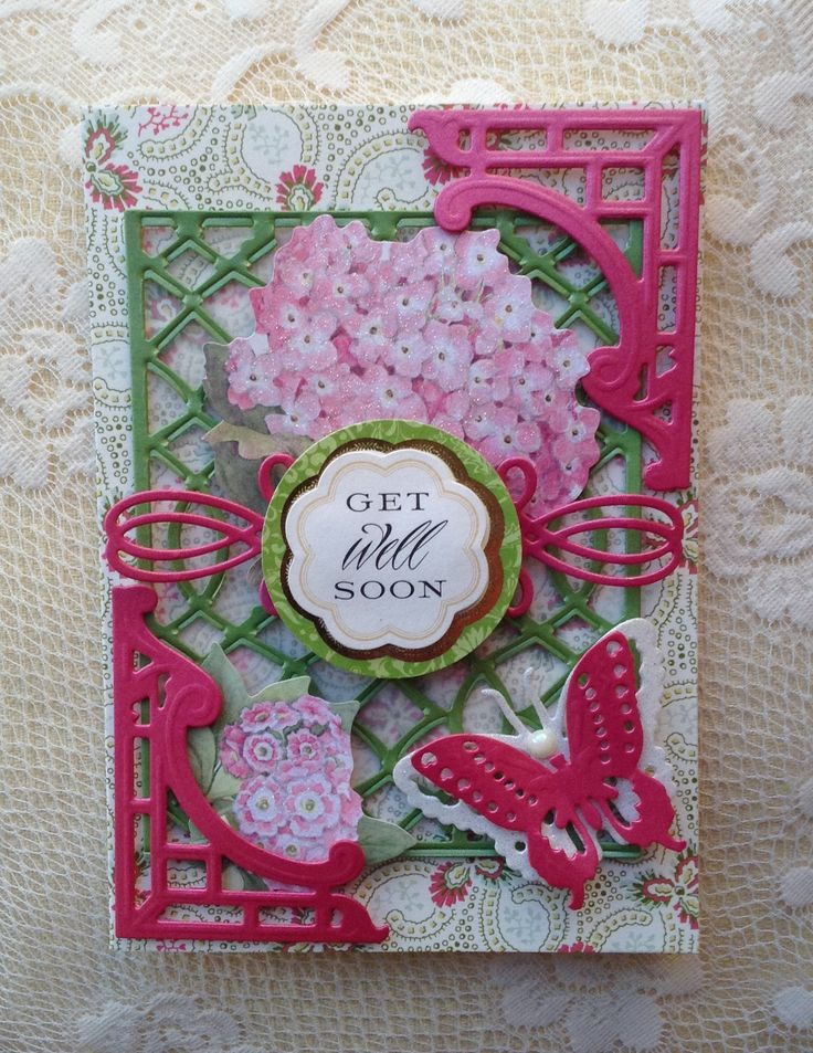 Anna Griffin Garden Windows Card With Metallic Layers,glitter Papers