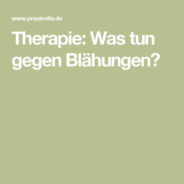 Therapie: Was tun gegen Blähungen?