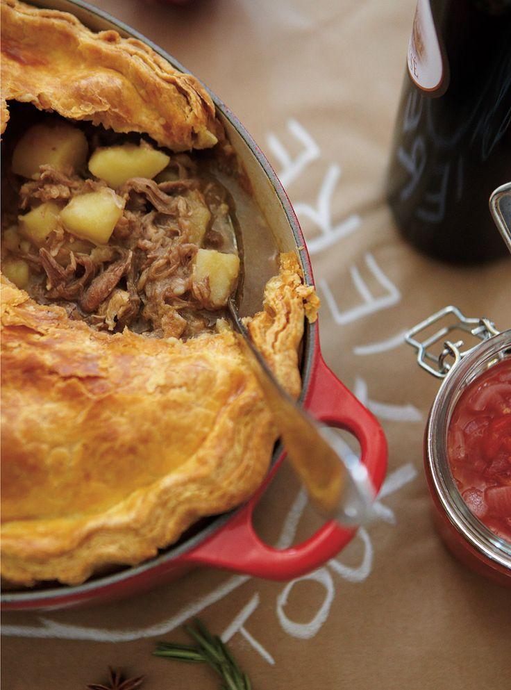 Recette de Ricardo de tourtière au porc braisé et au canard confit