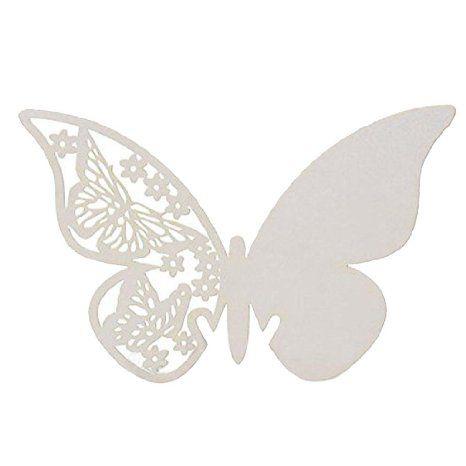 Flotte bordkort til fest med søde sommerfugle mønster til din borddækning til bryllup, barnedåb og fødselsdag.