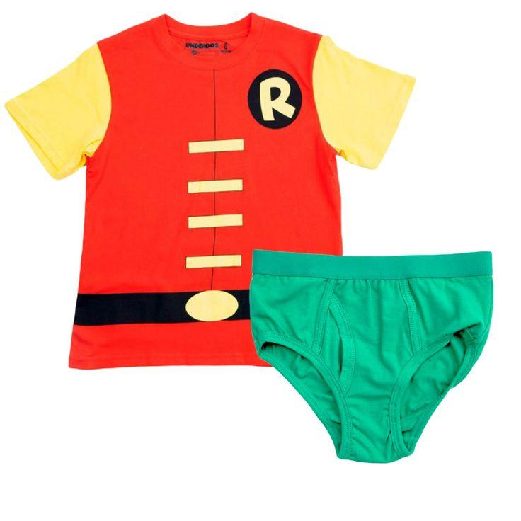 Robin Underoos Boys Underwear 2-Piece Set