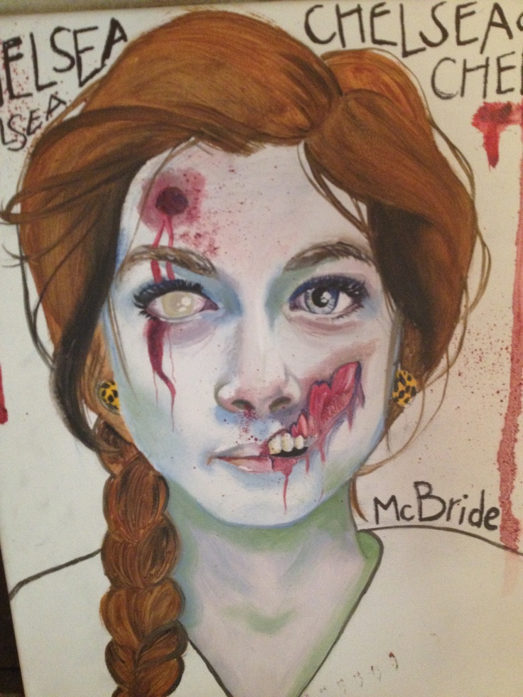 Zombie Face Line Drawing : Images about zombie face on pinterest