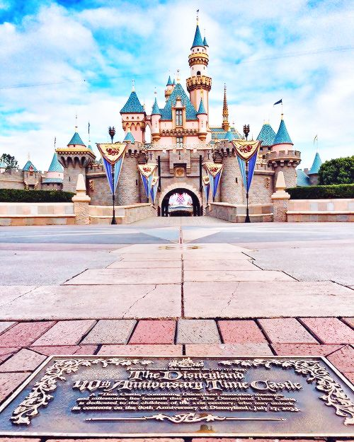 Disneyland castle and time capsule. I was working there during the 40th Anniversary. I'm in a picture that is inside the capsule.