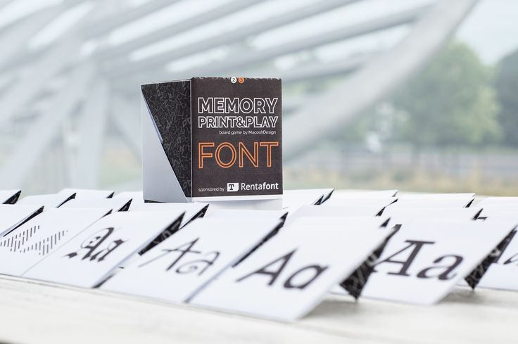 """Free DIY Boardgame 'Memory Print&Play"""" with Rentafont fonts"""