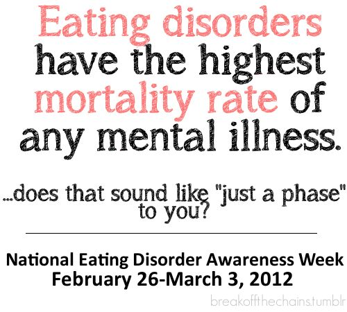 """Eating disorders are not """"just a phase"""": Body Image, Disorders Awareness, Awareness Week, Mental Health, Body Issues, Mental Illness, Eating Disorders Facts, Fight Eating, Disorders Recovery"""