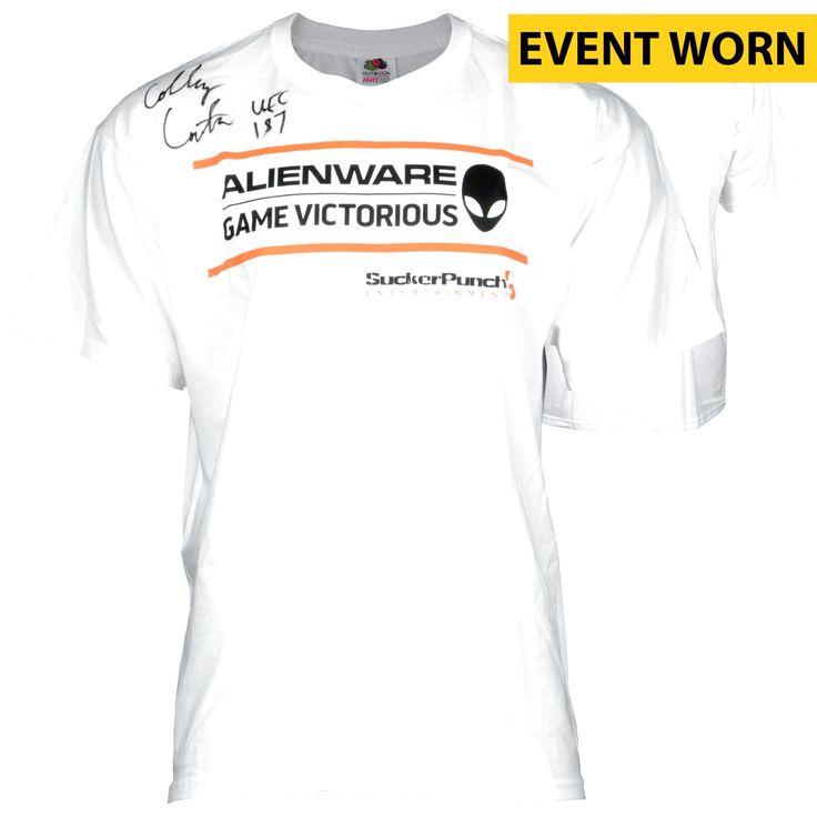 Colby Covington Ultimate Fighting Championship Fanatics Authentic Autographed UFC 187 Event-Worn Walkout Shirt with UFC 187 Inscription - Defeated Mike Pyle via Unanimous Decision - $319.99