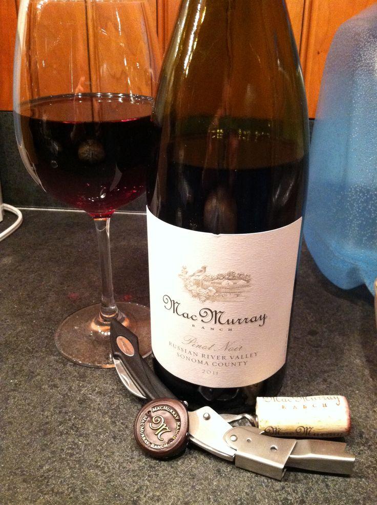 MacMurray Ranch, Pinot Noir, 2011 - Yum! 9/10 Birthday vino