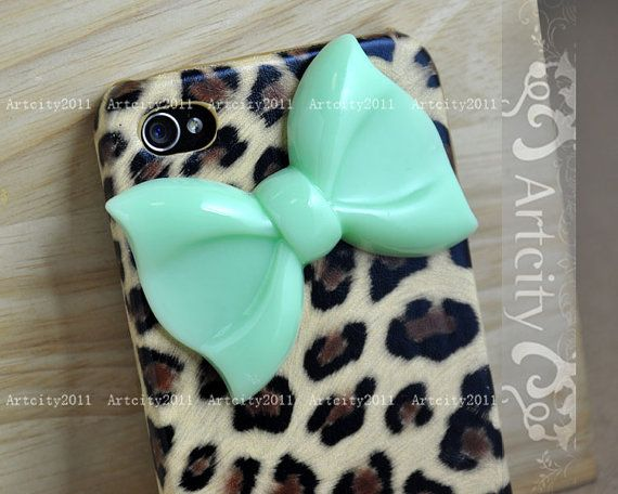 Bow+Iphone+4+case+Iphone+4S+case+Leopard+Iphone+4+by+ArtCity2011,+$12.99