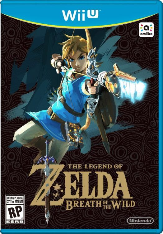 Box art for The Legend of Zelda: Breath of the Wild - Wii U. I'm so excited for this