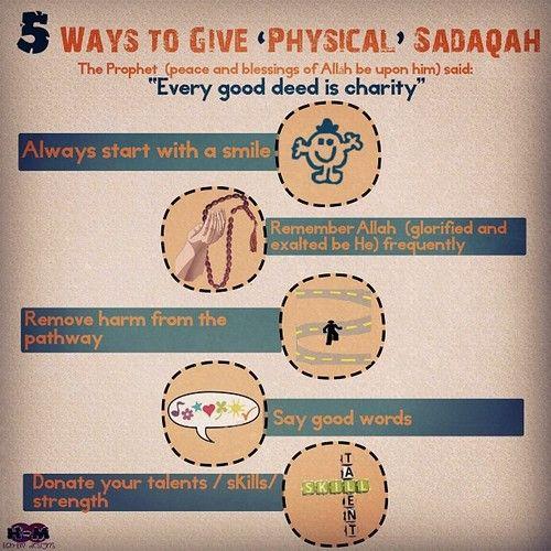 5 ways to #physical #Sadaqah