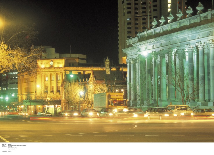 Adelaide's Railway Station and Parliament House- A beautiful sight, Thank you SA's Tourism Commission.