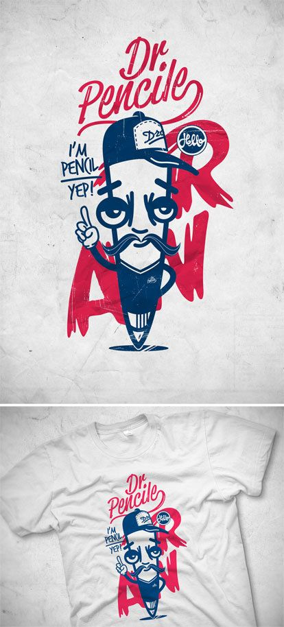T-shirt illustration by Borko Neric, via Behance