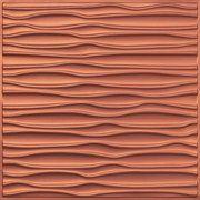 "Faux Tin Ceiling Tile - Drop In - 24"" x 24"" - #265 - Copper"