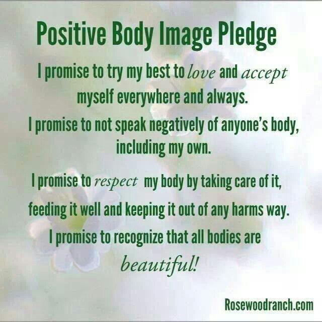Positive Body Image Pledge