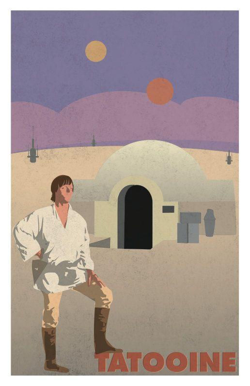 11x14 Luke Skywalker Tatooine Star Wars Poster by