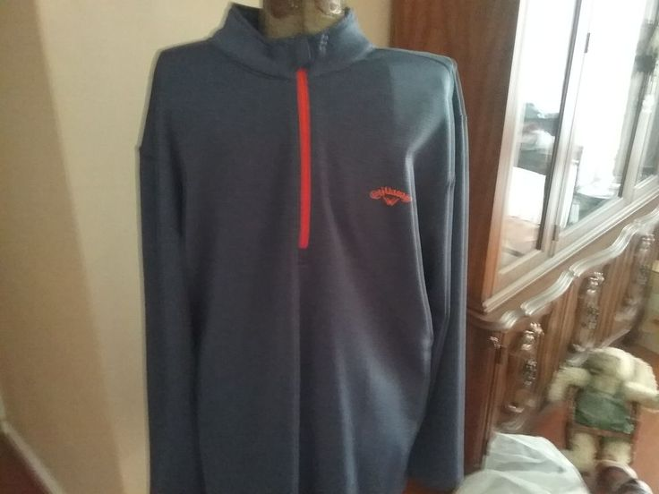 CALLAWAY Golf gray/orange  1/4 Zip Pullover X XL #Callaway #FleecePullover
