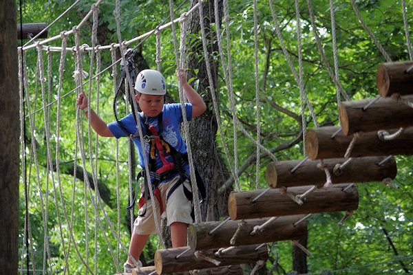 See Asheville's Top 10 Things to do with kids. This is Adventure Center of Asheville treetops and kid zipline course