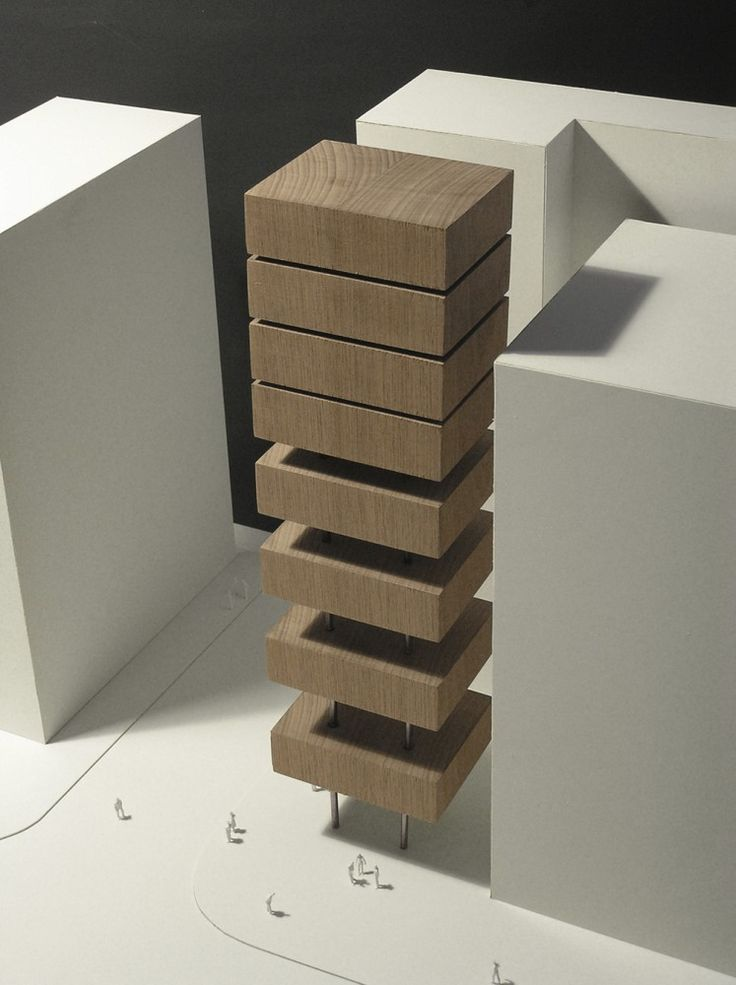 * modern architecture, architectural models, urban design* - Model of HA Tower, designed by Frontoffice + Francois Blanciak