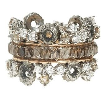Rettore Stacked Diamond Ring