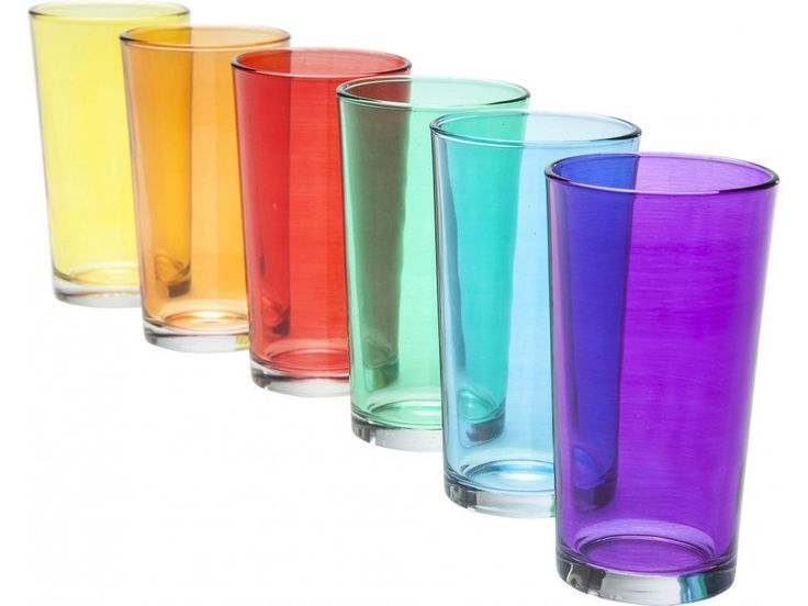 Szklanka Basic Colorful (6/Set) — Szklanki Kare Design — sfmeble.pl