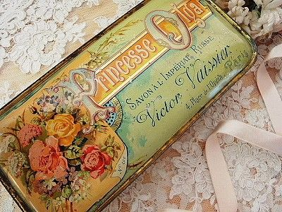 Vintage tin - great idea for re purposing all those various tins I've been saving.