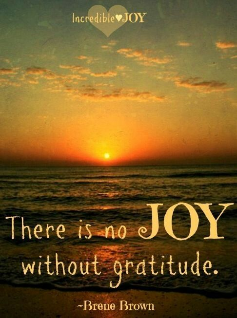 Gratitude Equals Joy