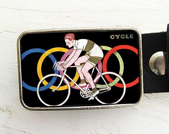 Vintage Cycle Belt Buckle Bicycle Belt Buckle by bmused on Etsy, $20.00