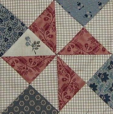 Yankee Puzzle Quilt Block v2   Barbara Brackman Civil War Quilt