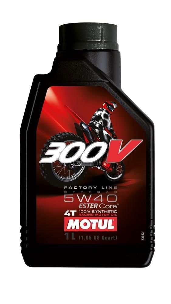 Motul 300V Factory Line OFF-ROAD 4T 100% Synthetic. Grade 5W40 & 15W60. Available in 1 & 4L.