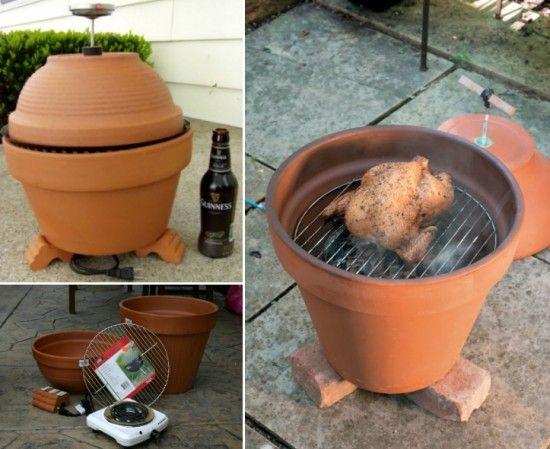 DIY How to Make Clay Pot Smoker Tutorial #diy, #outdoor, #smoker