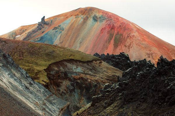 .Earth Tone, Mountain, Colors, Rainbows, Mothers Nature, National Parks, Iceland Volcano, Places, Landscapes