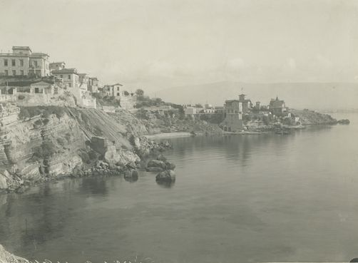Phaleron, a city built on cliffs along the shores of Phaleron Bay. 1900s. Location: Phaleron, Attica, Greece. Photographer: FRED BOISSONNAS/National Geographic Creative