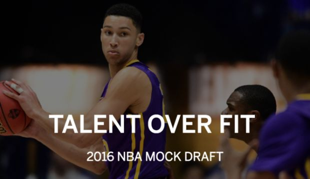 The 2016 NBA Draft less than three weeks away. Here's a look at how the first round will shake out on June 23.