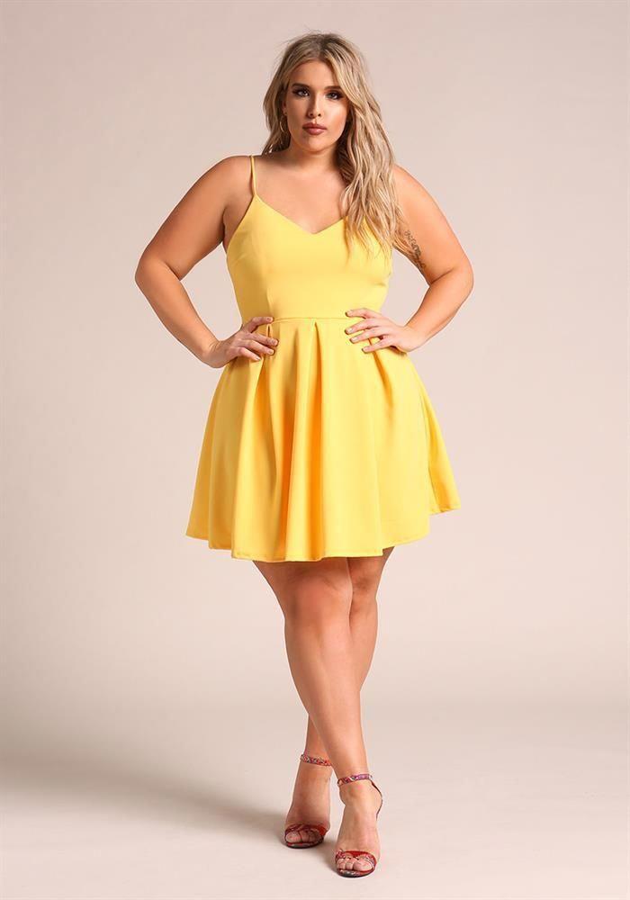 Plus Size Clothing   Plus Size Pleated Flared Dress   Debshops ...