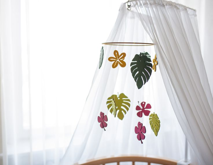 Tropical Jungle décor Tropical nursery Nursery mobile Personalized Baby Gifts For babyshower
