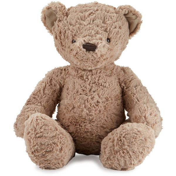 Jellycat Bertie Bear Medium Stuffed Teddy (960 UYU) ❤ liked on Polyvore featuring kids toys plush toys and tan