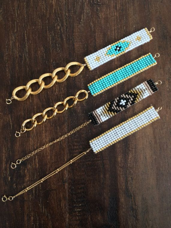 Beaded Chain Loom Bracelet Beaded Bracelet Loom by DesertGypsyCo