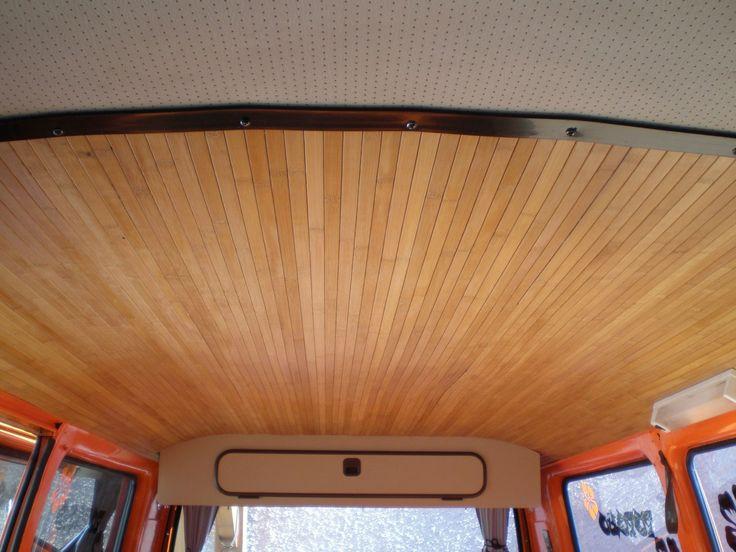 Ciel de toit en lame bambou en rouleau de chez casto vw for Sol en bambou en rouleau