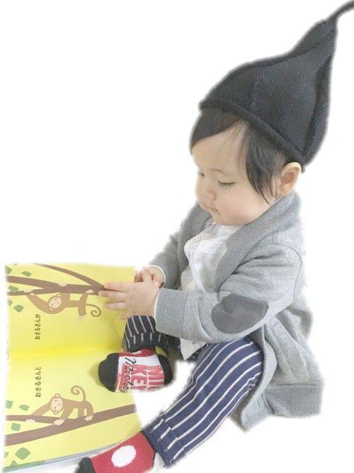 赤ちゃんに着せたいカーディガンのアイデア☆スエットのカーディガンは楽に洗えて使いやすい!